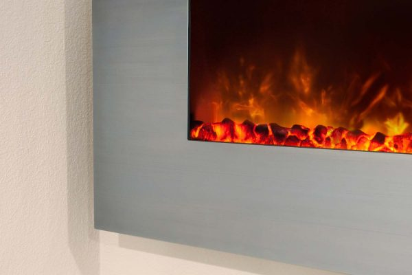Modern Flames CLX-2 Series Electric Fireplace with Stainless Steel Front, 80-Inch 2