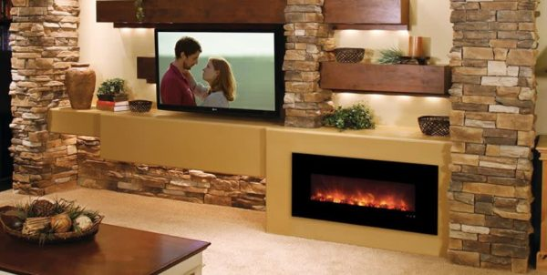 """Modern Flames FF43/BILV Builder No Heat 43"""" Wide Built-In Vent Free Electric Fireplace 1"""