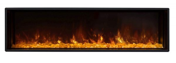 Modern Flames LFV2-120-15-SH 120 in. Landscape Fullview 2 Series Electric Fireplace - Built-In Clean Face 1