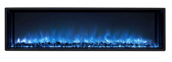 Modern Flames LFV2-120-15-SH 120 in. Landscape Fullview 2 Series Electric Fireplace - Built-In Clean Face 2