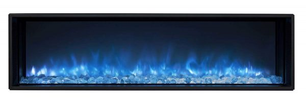 Modern Flames LFV2-120-15-SH 120 in. Landscape Fullview 2 Series Electric Fireplace - Built-In Clean Face 3