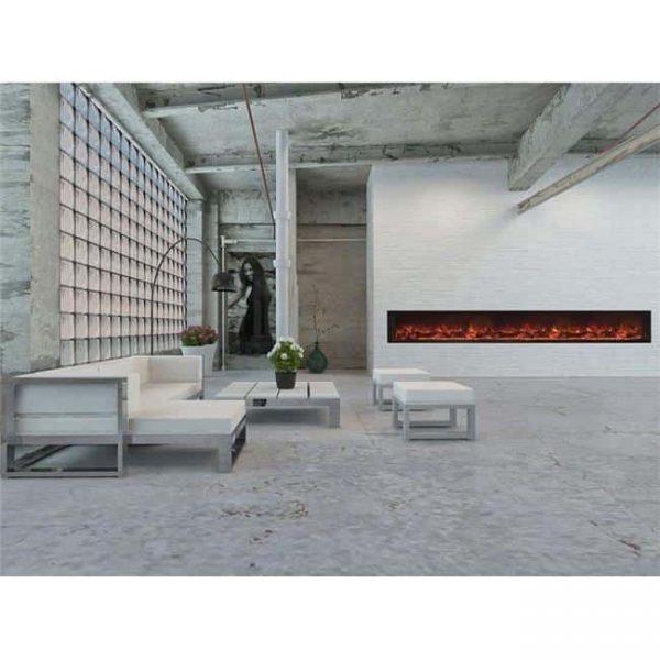 Modern Flames LFV2-120-15-SH 120 in. Landscape Fullview 2 Series Electric Fireplace - Built-In Clean Face