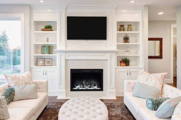 Modern Flames SC36-B 36 in. Spectrum Conventional Electric Fireplace, Slide-In & Flush Mount 2