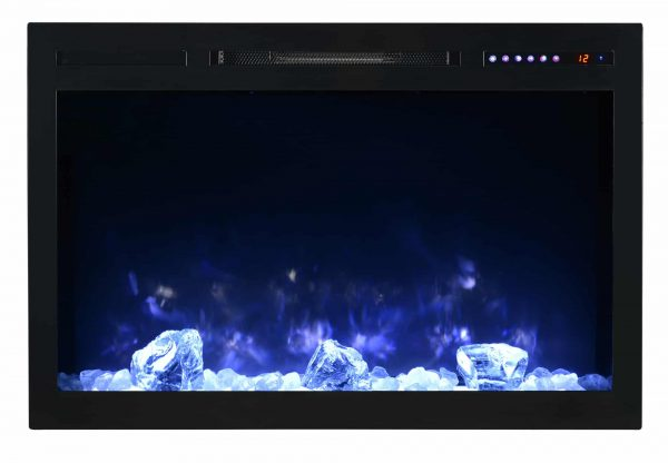"Modern Flames SC36-B Spectrum 5000 BTU 37"" Wide Built-In Vent Free Electric Fireplace 1"