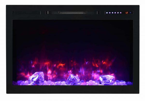 "Modern Flames SC36-B Spectrum 5000 BTU 37"" Wide Built-In Vent Free Electric Fireplace 2"