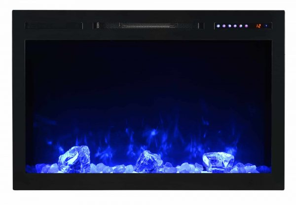 "Modern Flames SC36-B Spectrum 5000 BTU 37"" Wide Built-In Vent Free Electric Fireplace 3"
