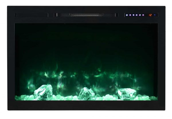 "Modern Flames SC36-B Spectrum 5000 BTU 37"" Wide Built-In Vent Free Electric Fireplace 6"