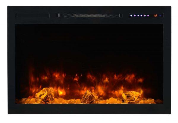 "Modern Flames SC36-B Spectrum 5000 BTU 37"" Wide Built-In Vent Free Electric Fireplace"