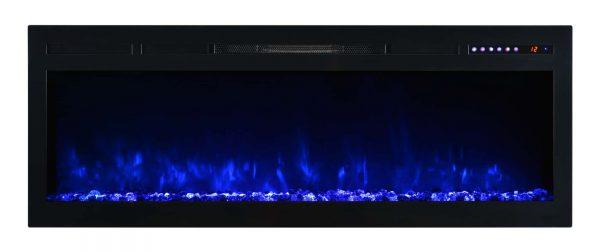 "Modern Flames SL50-B Spectrum 5000 BTU 50"" Wide Built-In Vent Free Electric Fireplace 1"