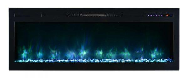 "Modern Flames SL50-B Spectrum 5000 BTU 50"" Wide Built-In Vent Free Electric Fireplace 2"