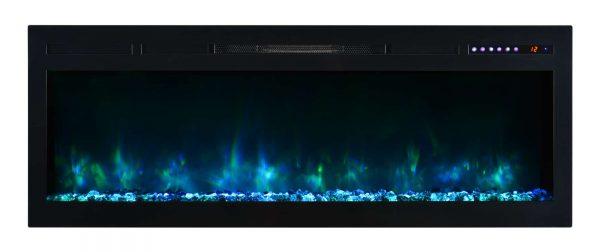 "Modern Flames SL50-B Spectrum 5000 BTU 50"" Wide Built-In Vent Free Electric Fireplace 3"