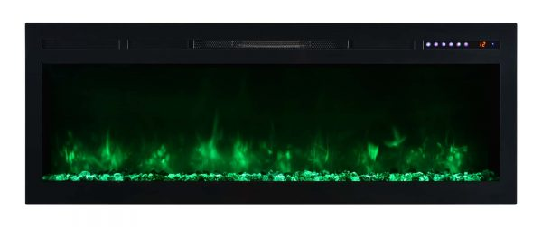 "Modern Flames SL50-B Spectrum 5000 BTU 50"" Wide Built-In Vent Free Electric Fireplace 5"