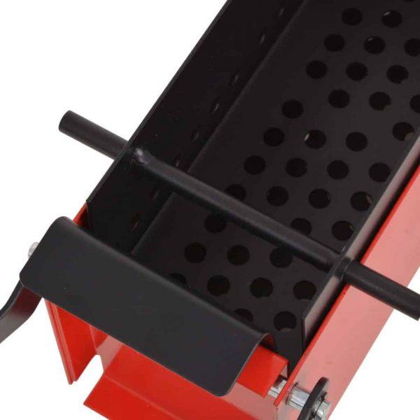"Moksha Paper Log Briquette Maker Steel 13.4""x5.5""x5.5"" Black and Red 2"