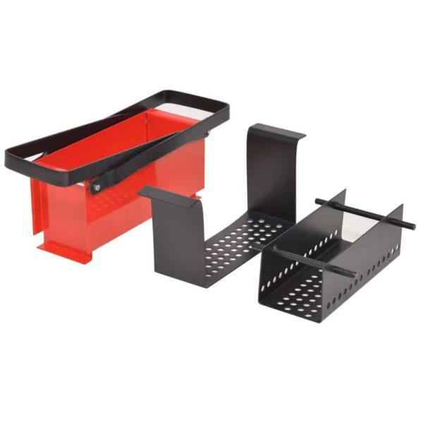 "Moksha Paper Log Briquette Maker Steel 13.4""x5.5""x5.5"" Black and Red 3"