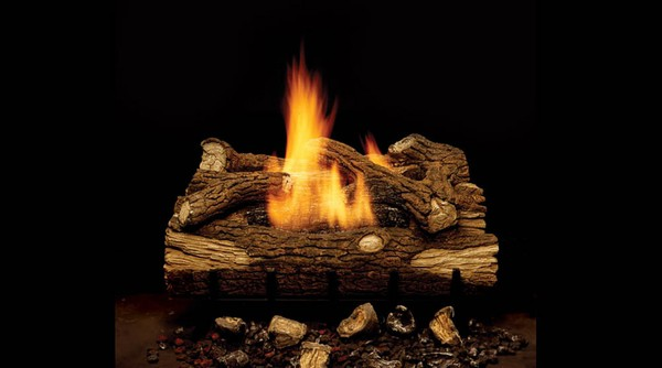 Monessen Gas Logs 18 Inch Mountain Oak Vent Free Natural Gas Log Set With Manual Safety Pilot