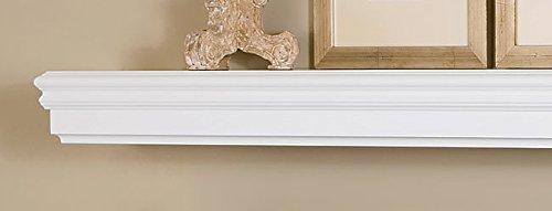 Monroe 72 Inch Fireplace Mantel Shelf - White Paint Finish