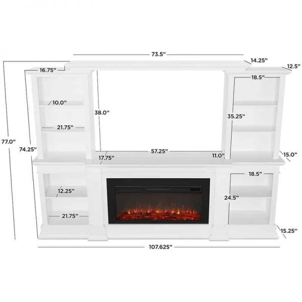 Monte Vista Media Electric Fireplace by Real Flame 20