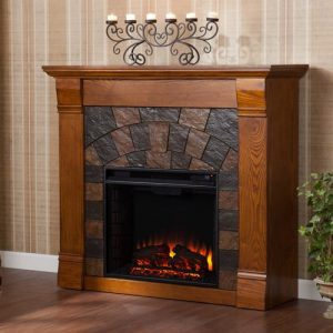 **NEW***Southern Enterprises Kareem Electric Fireplace