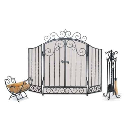 Napa Forge 19325 Fireplace Screen - Brushed Pewter 1