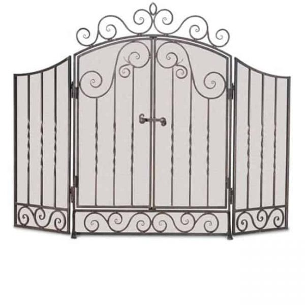 Napa Forge 19325 Fireplace Screen - Brushed Pewter