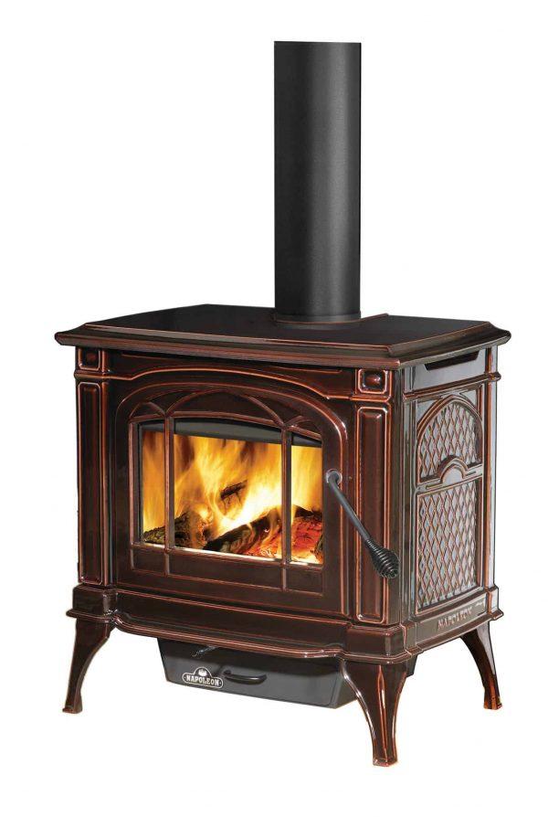 Napoleon 1100C-1 EPA 1.7 Cubic Foot Cast Iron Wood Burning Leg Mount Stove 1