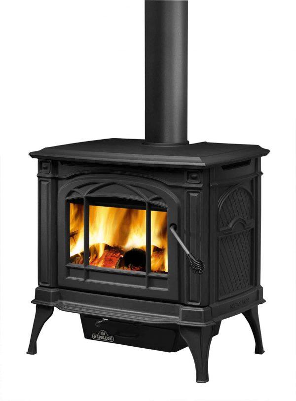 Napoleon 1100C-1 EPA 1.7 Cubic Foot Cast Iron Wood Burning Leg Mount Stove 2