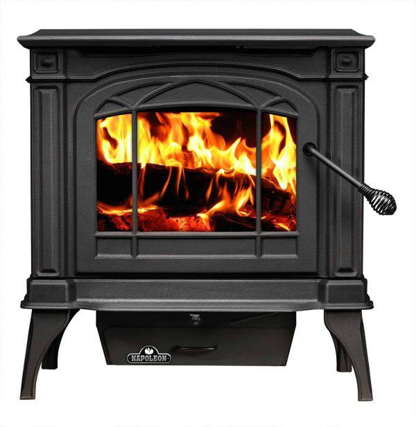 Napoleon 1100C-1 EPA 1.7 Cubic Foot Cast Iron Wood Burning Leg Mount Stove
