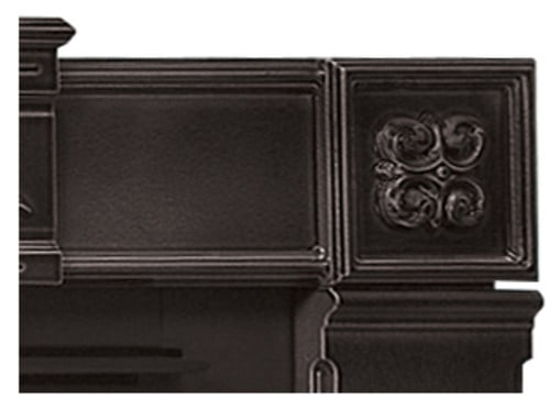 """Napoleon CFSK-A Painted Black Cast Iron Fireplace Surround Kit For 44"""" Wide X 36"""" High"""