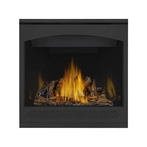 Napoleon GX36NTR Ascent 35 Direct Vent Millivolt Natural Gas Fireplace Up to 26k BTUs with Heat Radiating Ceramic Glass Exclusive Phazer Log Set