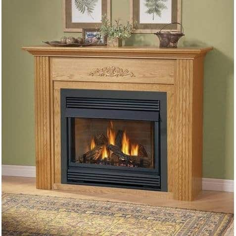 Napoleon Gvf36 Vent Free Propane Fireplace With Painted Black Louvre Kit