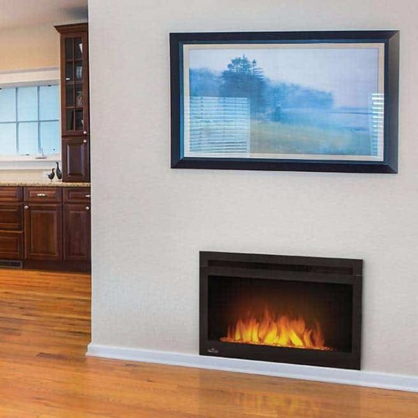 "Napoleon NEFB27G-3A Black 5000 BTU 27"" Wide Built In Electric Fireplace 1"