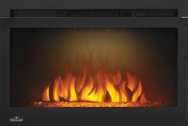 "Napoleon NEFB27G-3A Black 5000 BTU 27"" Wide Built In Electric Fireplace"