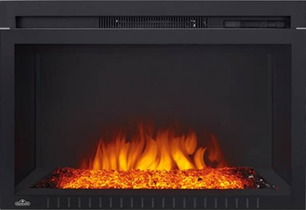"Napoleon NEFB29G-3A Black 5000 BTU 29"" Wide Built-In Electric Fireplace"