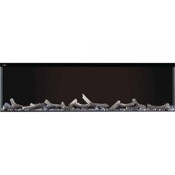 "Napoleon NEFB50H-3SV Trivista 10,000 BTU 50"" Wide Built-In Vent Free Electric Fireplace 3"