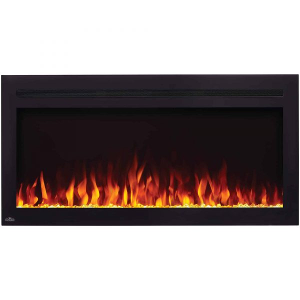 Napoleon NEFL42HI Purview 42 Inch Linear Electric Wall Mount Fireplace w/ Remote