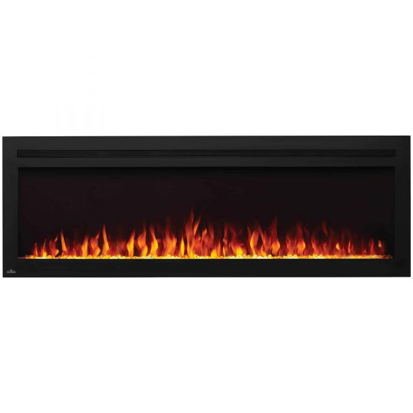 Napoleon NEFL60HI Purview 60 Inch Linear Electric Wall Mount Fireplace w/ Remote