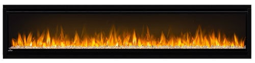 "Napoleon NEFL74CHS Black Alluravision 5000 BTU 77"" Wall Mount Vent Free Electric Fireplace 3"