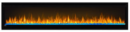 "Napoleon NEFL74CHS Black Alluravision 5000 BTU 77"" Wall Mount Vent Free Electric Fireplace 5"