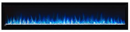 "Napoleon NEFL74CHS Black Alluravision 5000 BTU 77"" Wall Mount Vent Free Electric Fireplace"