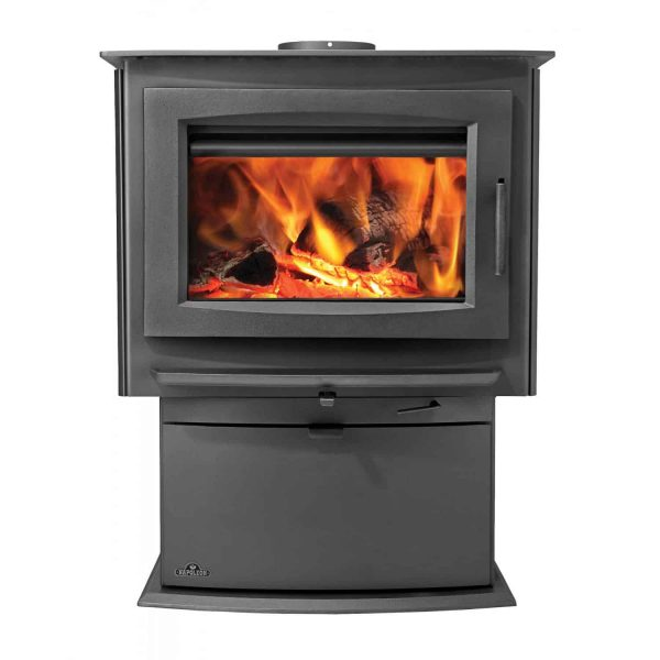 Napoleon S4 70000 BTU 2.25 Cubic Foot Wood Stove with Removable Ash Pan from the 1