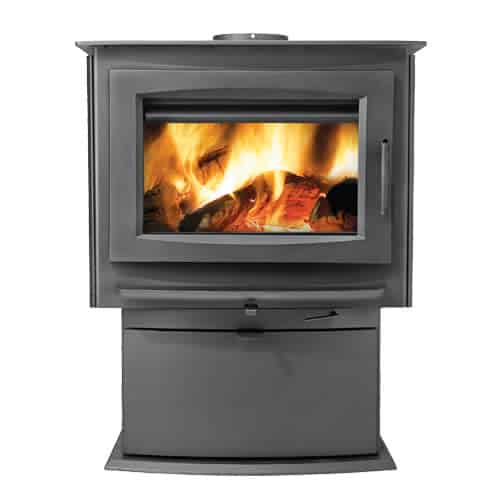 Napoleon S4 70000 BTU 2.25 Cubic Foot Wood Stove with Removable Ash Pan from the
