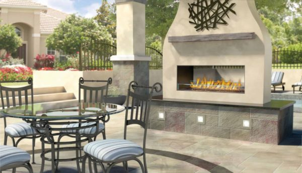 Napoleon See Through Linear Outdoor Gas Fireplace Insert 1