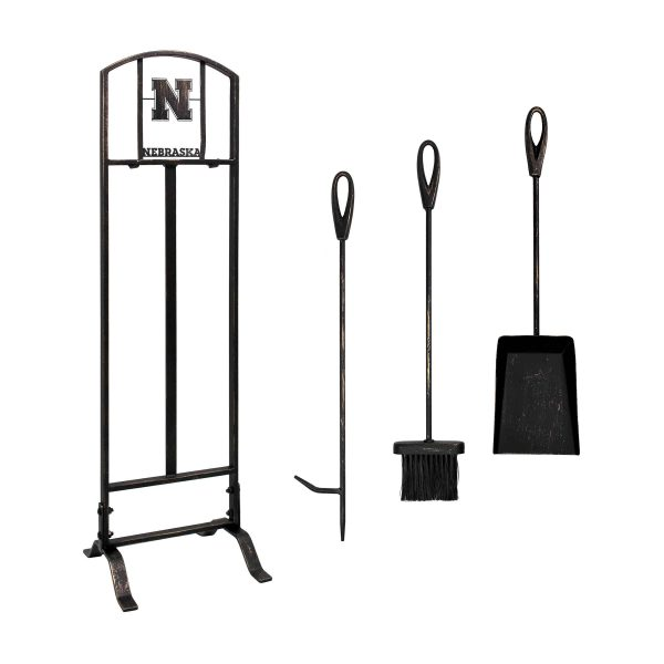Nebraska Cornhuskers Imperial Fireplace Tool Set - Brown 1