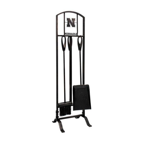 Nebraska Cornhuskers Imperial Fireplace Tool Set - Brown