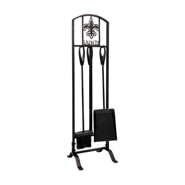 New Orleans Saints Imperial Fireplace Tool Set - Brown