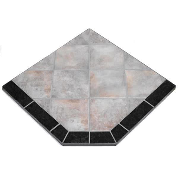 Night Shadows Tile Single Cut Corner Stove Board