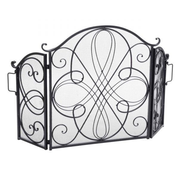 Noble House Christopher Iron Fireplace Screen