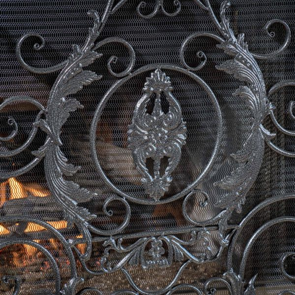Noble House Waterbury Fireplace Screen,Silver 2