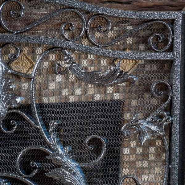 Noble House Waterbury Fireplace Screen,Silver 3