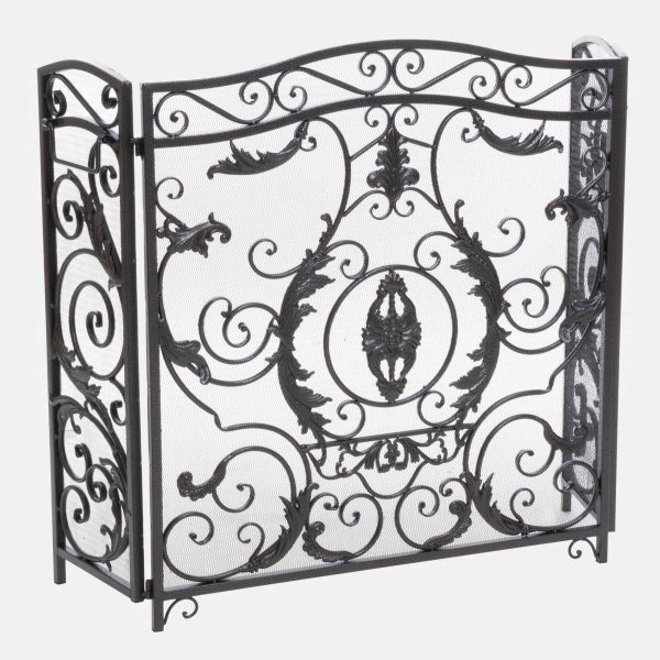 Noble House Waterbury Fireplace Screen,Silver 4